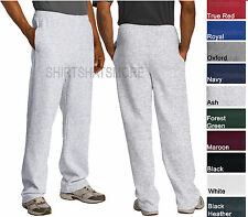 Jerzees Mens Open Bottom Sweatpants WITH Pockets Blended S-3XL 10 Colors NEW