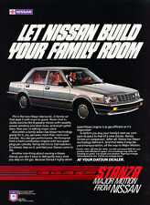 1982 Nissan Stanza Sedan - Classic Vintage Advertisement Ad PE101