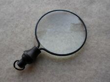 Round Magnifier - Necklace Pendant Charm Antique Finish Brass Magnifying Glass -