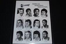 1975-76 Utah Stars Team Issued 8x10 ABA Photo-EX/MT-Moses Malone, Rick Mount