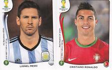 Panini 2014 World Cup Brazil # 523 Ronaldo &  430 Messi Sticker