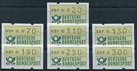 Bund ATM sauber postfrisch 1.1 VS 2 Automatenmarken Satz Versandstellensatz MNH