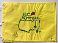 Bubba Watson signed 2012 Masters flag pga beckett coa 2012 masters golf pga