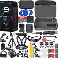 GoPro HERO 9 Black Full Bundle with SanDisk 64GB Memory Card + Hard Case