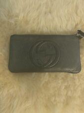 Authentic Gucci Soho Metalic Wristlet Wallet