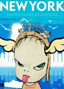 DEATH NYC ltd ed signed LG street art print 45x32cm yoshitomo nara new york city
