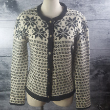 Point Zero Nicole Benisti Feeling of the Highland 100% Wool Sweater Buttons Down