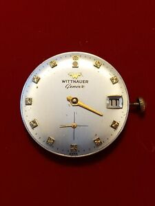 Vintage Wittnauer Geneve Cal. C11K-1 Mens Watch Movement Runs Great  NO RESERVE!