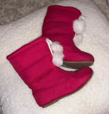 Janie and Jack Pink Boots Size 8