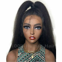 Yaki Straight Kinky Curly 360 Full Frontal Lace Wig 100 Peruvian Human Hair Wigs