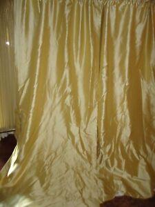 WATERFORD SUTTON SQUARE GOLD DIAMOND (PAIR) LINED DRAPERY PANELS TIEBACKS 43X86