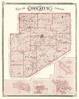 Decatur County Indiana - Baskin 1876 - 23.00 x 28.86