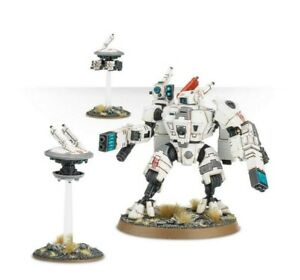 Tau Empire XV8 Crisis Battlesuit with 2 Drones + Many Weapons - Warhammer 40k.