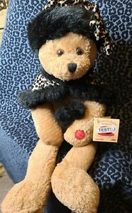 "Vintage NWT Chantilly Lane Musical Singing Bear Anastasia ""Somewhere My Love"""