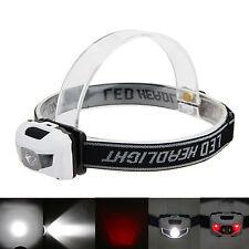 4pcs Bright 600LM Mini Headlight 3x R3 +2Red LED Headlamp Head Torch Lamp Light