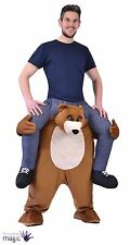 Piggy Back Bear Halloween Mascotte Costume Robe Fantaisie Cerf Fête drôle fun Outfit