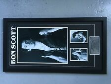 BON SCOTT - quality framed large 3 photo montage - large pic 12x18 inch RRP $199