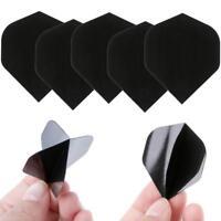 30 Pcs PET Dart Flights High Quality Simple Pure Black Darts Accessories