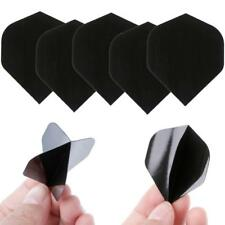 30 Pcs PET Dart Flights High Quality Simple Pure Black Darts Accessories