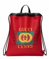 GUCCI RUCKSACK TASCHE A4 WEB LOGO BACKPACK BAG MADE IN ITALY 5166390GDBT