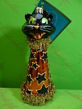 Christopher Radko Cat A Cone Glass Ornament