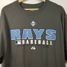 Authentic Tampa Bay Devil Rays Mens Shirt Size M Gray Baseball EUC