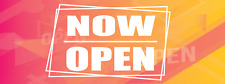 Now Open Banner Vinyl Advertising Store Shop Business Sign Full Size 3' x 8'