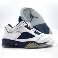 Nike Air Jordan 5 V Retro Low Dunk From Above White Navy 819171-135 Men's 8.5