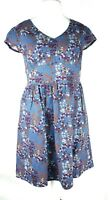 Ness of Scotland Ditsy Floral Butterfly Print Country Fit & Flare Dress UK 14