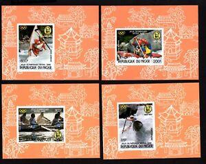 Olympic Niger 1988 4 blocks of stamps Mi#1049-52 MNH