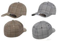 FLEXFIT Glen Check Baseball Cap 6196 Karo Kariert Fashion Mütze Größe S/M & L/XL