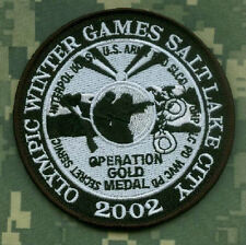 SALT LAKE CITY 2002 WINTER OLYMPICS SECURITY JOINT OPERATION GOLD MEDAL INSIGNIA