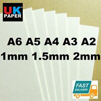 1mm 2mm A4 A3 CARDBOARD CARDS BACKING BOARD PAPER SHEETS KRAFT WHITE MODEL MOUNT