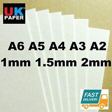 1mm 2mm A4 A3 CARDBOARD CARDS BACKING BOARD PAPER SHEETS KRAFT WHITE MODEL MOUNT