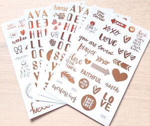 Sweet Sayings  - Gold Metallic Craft Sticker Set