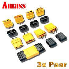 Original Amass XT60H Hochstrom Goldstecker 3 Paar 6 Stück XT60 Stecker Buchse RC