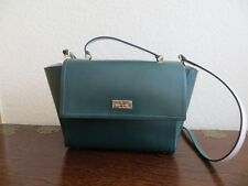"""Kate Spade RARE in Green 100% Leather """" Arbour Hill"""" Satchel Cross body Bag $379"""