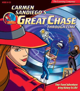 Carmen Sandiego Great Chase  Travel Through Time Discover World History   2 CDs