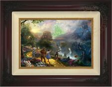 Thomas Kinkade Dorothy Discovers the Emerald City 12 x 18 LE S/N (Brandy Frame)