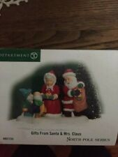 Dept 56 North Pole Village Accessory Gifts From Santa & Mrs. Claus Nib