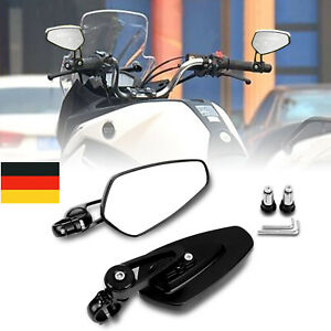 "7/8"" 22mm Motorrad Spiegel Lenkerendenspiegel Rückspiegel Aluminium Universal"