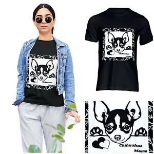 ❤️Chihuahua Mama❤️Soft Style T-shirt Top Dog Mum Puppy Mama Chi Clothes Furbaby