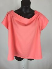 Asos Womens Blouse Shirt Curve Short Sleeve Off Shoulder Size 20 Coral Pink NWT