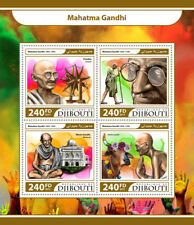 DJIBOUTI 2017 neuf sans charnière Mahatma Gandhi Charkha Vaches 4 V M/S Les dirigeants du monde timbres