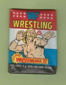 1987 OPEECHEE WWF Wrestling Stars Wrestlemania III Unopened Pack Very RARE $$$