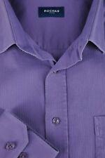 Rochas Paris para Hombre Morado Dobby Algodón Camisa de Vestir 17 X 34/35