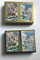 VTG Nautical Souvenir Playing Cards Queen Bermuda Sea Venture Ship Jokers W/ Box