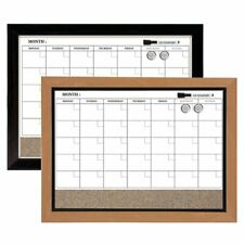 Quartet Magnetic Combination Board Calendar 17 X 23 Dry Erase Cork 1 Month