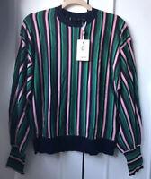 Ted Baker KIONAI striped jumper RRP £139 Size 3 UK 12 Sweatshirt Top THIS SEASON