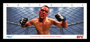 NATE DIAZ UFC FRAMED WINGS LITHOGRAPH MCGREGOR JONES
